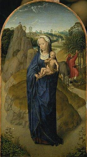 Hans Memling: Die Jungfrau mit dem Kinde während der Flucht nach Ägypten
