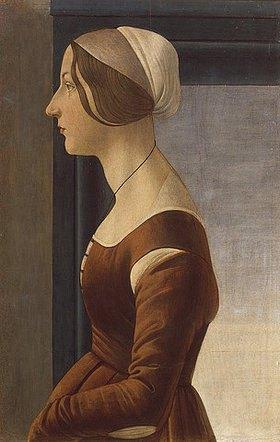 Sandro Botticelli: Bildnis einer Dame mit Kappe (La bella Simonetta)