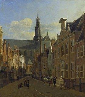 Gerrit Adriaensz Berckheyde: Strasse in Haarlem