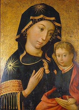 Hans Holbein d.Ä.: Maria mit dem Jesusknaben. Hindelanger Madonna