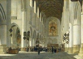 Job Adriaensz Berckheyde: Inneres der St.Bavo-Kirche in Haarlem