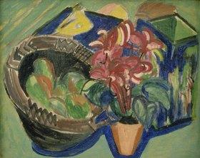 Ernst Ludwig Kirchner: Stilleben mit Früchtekorb