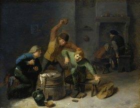 Adriaen Brouwer: Bauernrauferei beim Kartenspiel