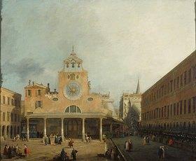 Canaletto (Giov.Antonio Canal): Der Platz von San Giacomo di Rialto in Venedig. Vor