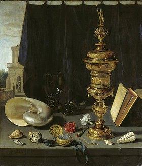Pieter Claesz.: Stilleben mit hohem goldenen Pokal