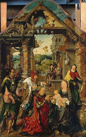 Joos van Cleve: Die (kleine) Anbetung der Könige