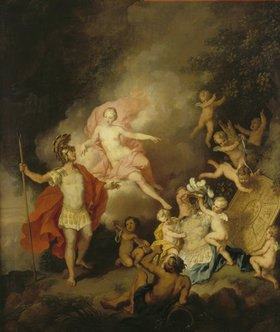 Christian Wilhelm Dietrich: Venus und Aeneas