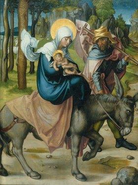 Albrecht Dürer: Die Flucht nach Ägypten. Aus dem Altar: Die sieben Schmerzen Mariae