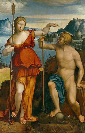 Garofalo (eigtlich Benvenuto Tisi): Poseidon und Athene