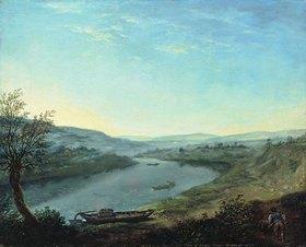 Anton Graff: Die Elbe bei Blasewitz oberhalb Dresdens am Morgen