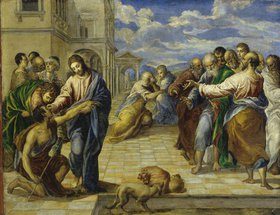 Greco El (Dom.Theotokopoulos): Die Heilung des Blinden
