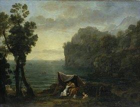 Claude Lorrain (Gellée): Küstenlandschaft mit Acis und Galatea