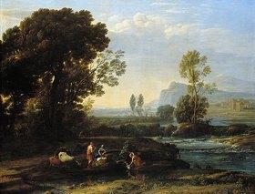 Claude Lorrain (Gellée): Landschaft mit der Flucht nach Ägypten