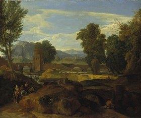 Jean-François Millet: Römische Landschaft mit Bogenbrücke