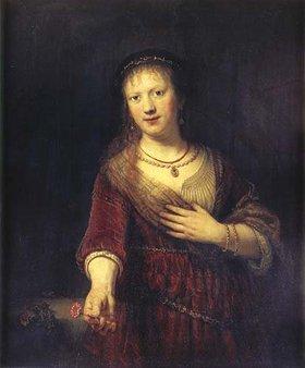 Rembrandt van Rijn: Saskia mit der roten Blume