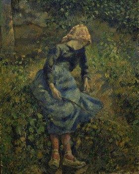 Camille Pissarro: Junges Hirtenmädchen mit Stock