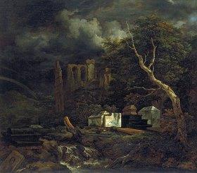 Jacob Isaacksz van Ruisdael: Der Judenfriedhof bei Ouderkerk