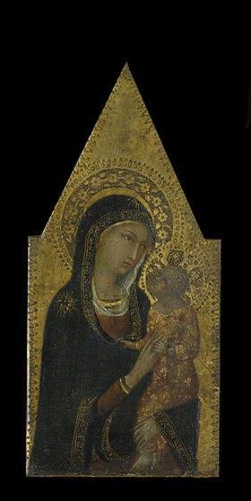 Sienesisch: Maria mit dem Kinde