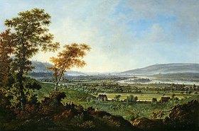 Johann Alexander Thiele: Blick von den Lössnitzhöhen auf Dresden