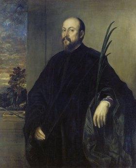 Tizian (Tiziano Vecellio): Bildnis eines Malers mit einer Palme