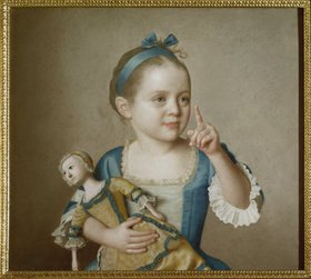 Jean Etienne Liotard: Mädchen mit Puppe