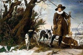 Jan Wildens: Winterlandschaft mit einem Jäger