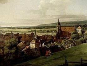 Bernardo (Canaletto) Bellotto: Die Festung Sonnenstein über Pirna Ausschnitt. Zwischen