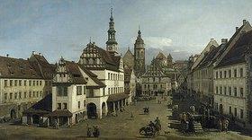 Bernardo (Canaletto) Bellotto: Der Marktplatz zu Pirna