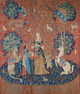 Französisch: Die Dame mit dem Einhorn: Allegorie des Duftes. Zwischen 1484 und