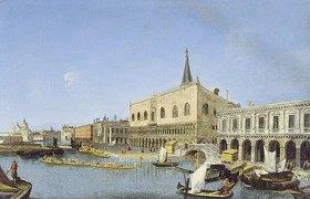 Michele Marieschi: Vedute des Palazzo Ducale am Bacino di San Marco gegen Santa Maria della Salute
