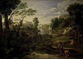 Nicolas Poussin: Landschaft mit Diogenes