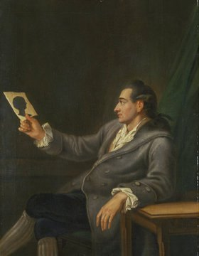 Georg Melchior Kraus: Der junge Johann Wolfgang Goethe mit einem Scherenschnitt