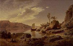 Albert Flamm: Oberitalienischer Gebirgssee
