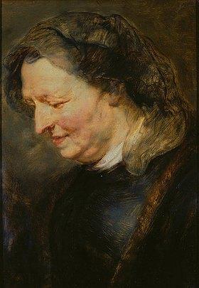 Peter Paul Rubens: Portraitstudie einer alten Frau