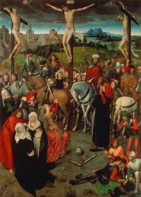 Hans Memling: Passionsaltar. Mitteltafel (Festtags - Ansicht)