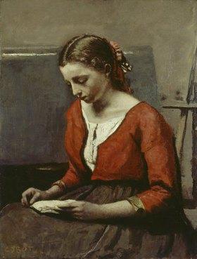 Jean-Baptiste Camille Corot: Lesendes Mädchen