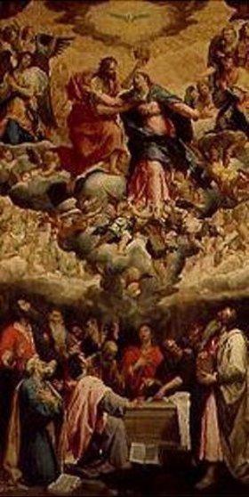Candid (eigtlich Pieter de Witte): Mariae Himmelfahrt. 1620. Ehemaliges Hochaltarbild in der Frauenkirche München