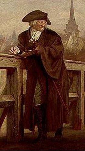 Adolph von Menzel: Chodowiecki, auf der Jannowitz-Brücke zeichnend