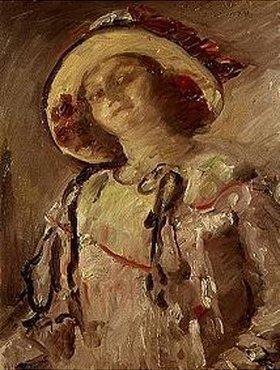 Lovis Corinth: Wilhelmine mit gelbem Hut
