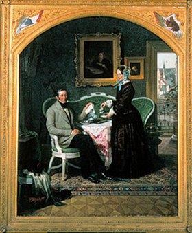 Adolph Diedrich Kindermann: Glasermeister Achelius und seine Frau beim Frühstück