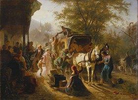 Karl von Enhuber: Abfahrt eines Postwagens