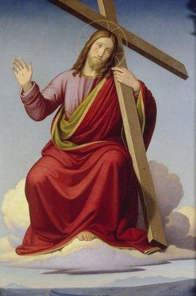Johann Friedrich Overbeck: Der Heiland in den Wolken mit dem Kreuz auf der Schulter