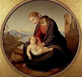 Johann Friedrich Overbeck: Maria mit dem schlafenden Jesuskind