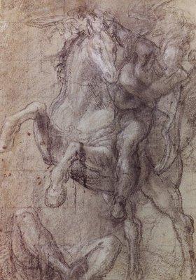 Tizian (Tiziano Vecellio): Reiter über einem Gefallenen