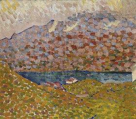 Giovanni Giacometti: Blick auf den Silbersee und Piz Corvatsch