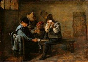 Adriaen Brouwer: Kartenspielende Bauern