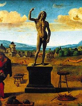 Piero di Cosimo: Darstellung aus der Prometheus-Sage.  Um 1510 / 1520. (Detail)