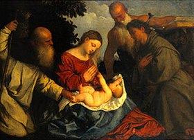 Venezianisch: Madonna mit Kind und den hll.Franziskus, Hieronymus und Anthony Abbott