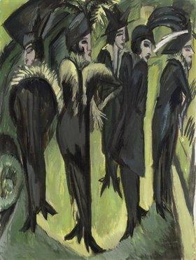 Ernst Ludwig Kirchner: Fünf Frauen auf der Strasse