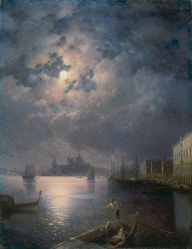 Konstant.Iwan Aiwassowskij: Gondelfahrt bei Mondschein in Venedig